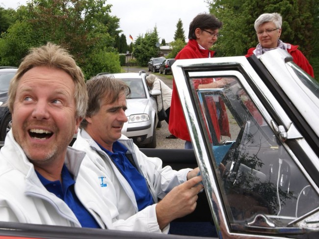 Das weitestgehend vergnügte Racing-Team Löwisch/Tanz...