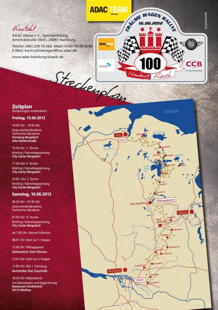 Rallye Strecke und Kontakt