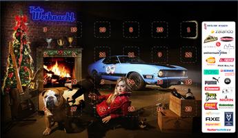 Abstauben in der Garage von Santa Claus