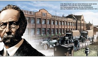 Anschaulicher Comic: Die Mercedes-Historie