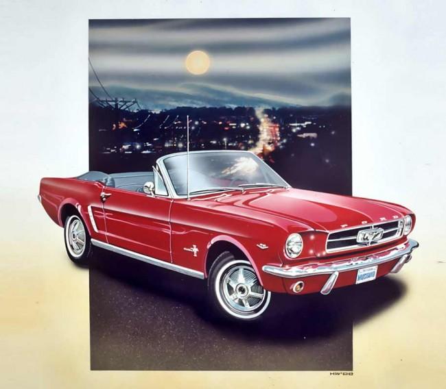 Mustang mit Mond