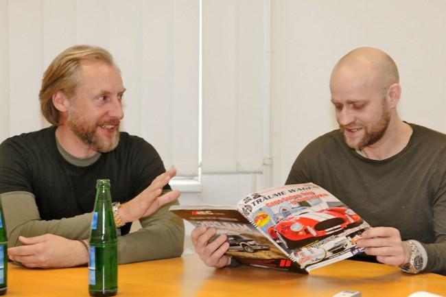 Marco Wendlandt und Jürgen Vogel beim Interview