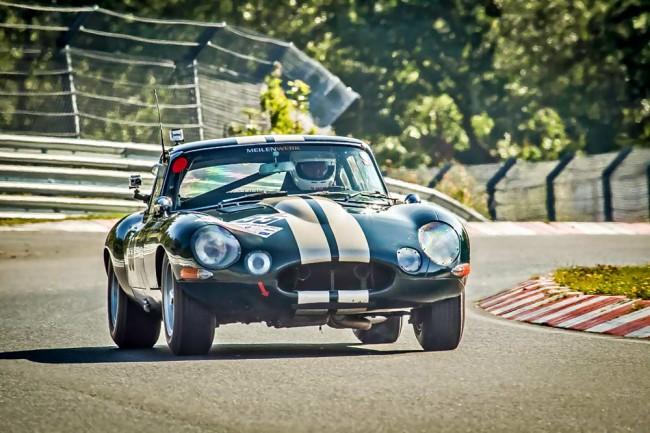 Jaguar E auf der Nordschleife