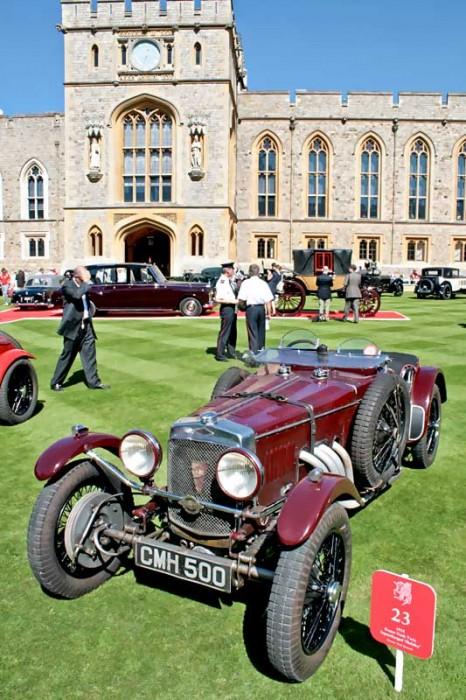 God drive the Queen - Concours of Elegance auf dem Gelände des Windsor Castle