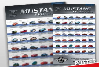 50 Jahre Mustang Poster