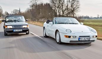 Porsche 968 Cabrio vs. Saab 900 Cabrio Edel und offen