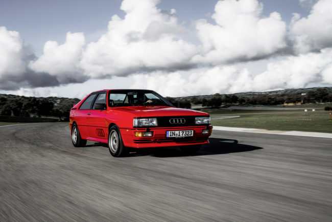 Fünf + vier = Ikone – Audi Urquattro mit Fünfzylinder-Turbo und Allradantrieb