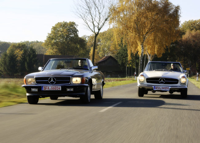 Mercedes-Benz 560 SL (R107) vs. 280 SL (W113)