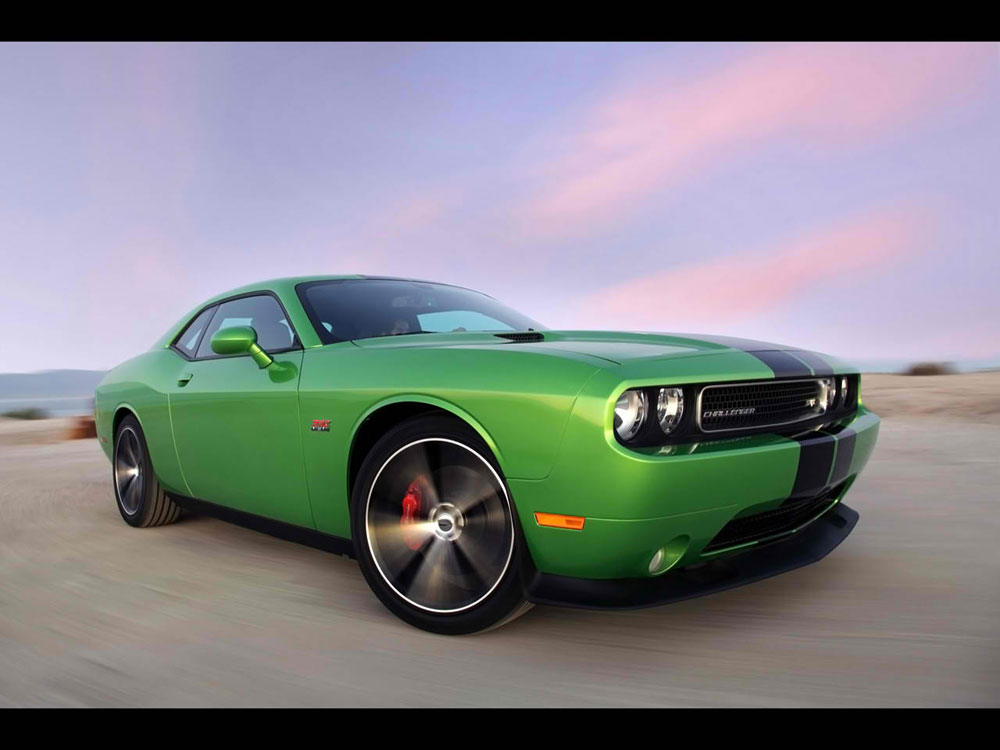 Challenger goes green